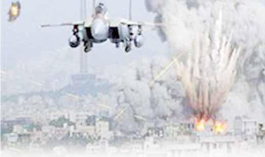 تكثيف القصف الجوي وتأثيره على أنشطة الأعمال