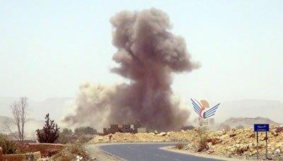 طيران العدوان يستهدف مناطق متفرقة في البيضاء