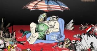كاريكاتير...السعودية-في-دماء-اليمنيين-630x420